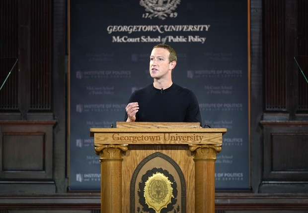 Mark Zuckerberg na Universidade de Georgetown (Foto:  Riccardo Savi/Getty Images)