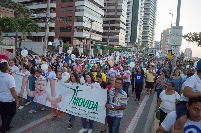 12ª edição da 'Marcha Pela Vida' acontece neste sábado de forma virtual em Fortaleza