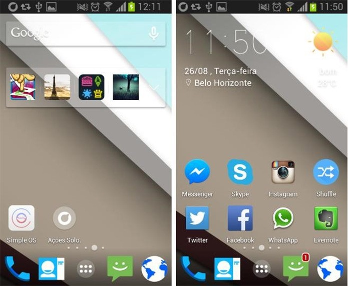 Android L Icons Weather Skin