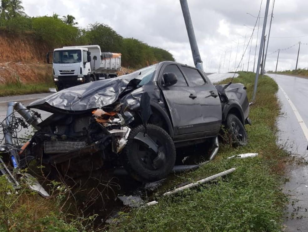 Acidente aconteceu no acesso sul ao Aeroporto de Natal — Foto: Redes Sociais