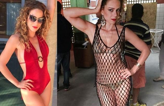 Ainda em 'Justiça', Leandra Leal foi a sensual Kellen. A boa forma da atriz e seu figurino ousado foram assunto nas redes sociais (Foto: Reprodução)