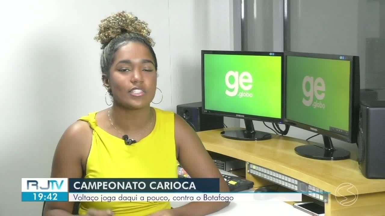 Voltaço entra em campo contra o Botafogo pelo Campeonato Carioca