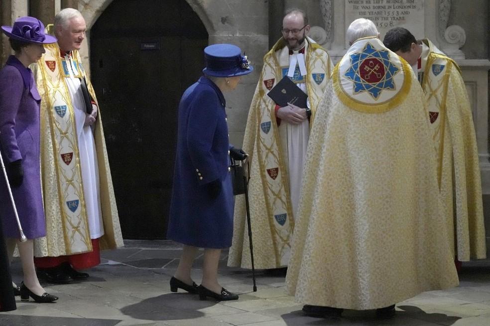 Rainha Elisabeth II — Foto: Frank Augstein / POOL / AFP