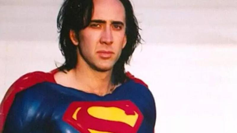 Nicolas Cage como Super-Homem em versão não realizada de filme de Tim Burton (Foto: Divulgação)