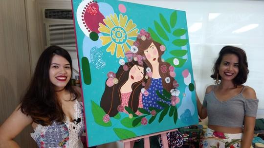 Irmãs unem paixão por diferentes formas de arte para criar peças exclusivas