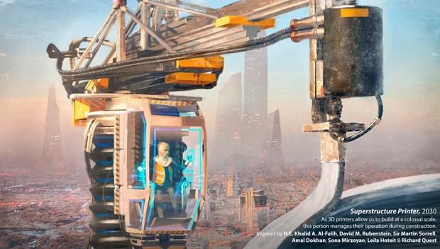 Ilustração de Florian de Gesincourg - Futuro do Trabalho - WEF - construção (Foto: Divulgação)