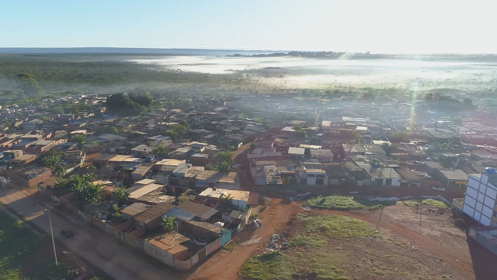 Chácara Santa Luzia, na região da Estrutural, no DF  — Foto: TV Globo/Reprodução