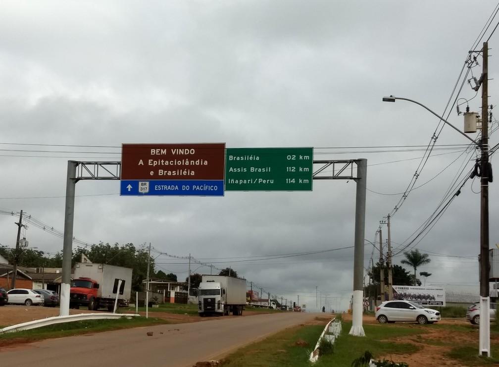 Com a inauguração da Ponte do Abunã, Acre se torna porta de entrada de investimentos pela Estrada do Pacífico — Foto: Aline Nascimento/G1