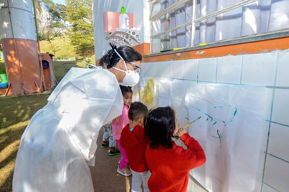 Aulas da rede municipal de ensino são retomadas em período integral em Jundiaí— Foto: Prefeitura de Jundiaí/Divulgação