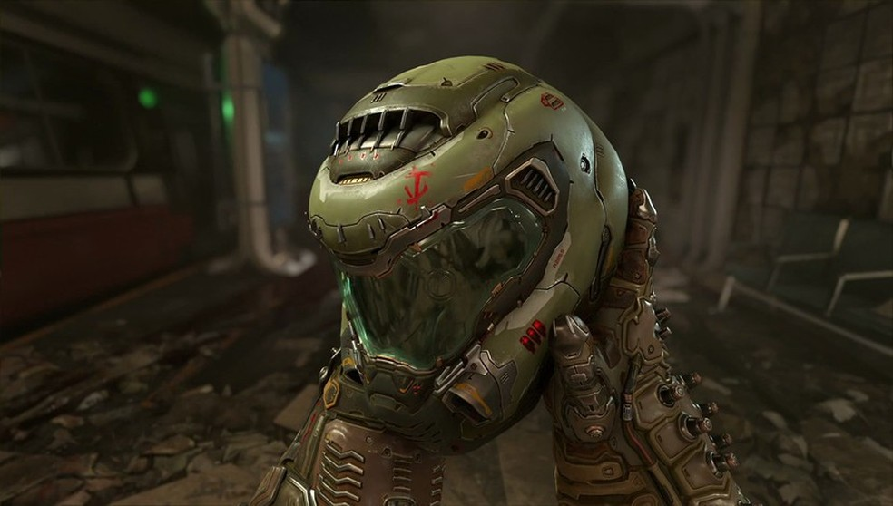 Em Doom Eternal o personagem conhecido como Doom Slayer estará de volta para lutar contra demônios — Foto: Divulgação/Bethesda