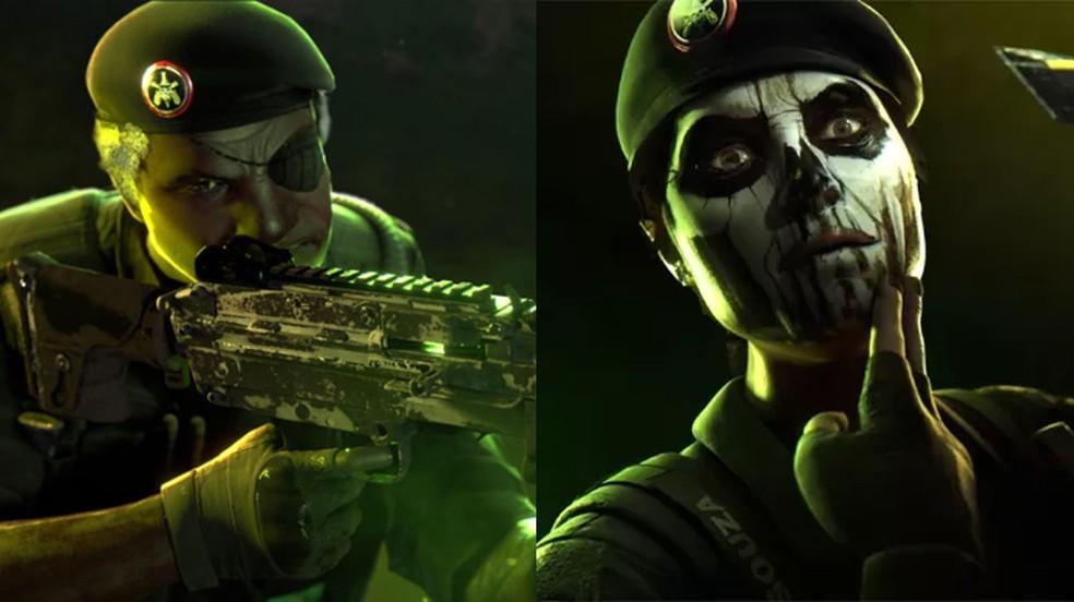 Capitão e Caveira são dois agentes do BOPE que representam o Brasil em Rainbow Six Siege — Foto: Reprodução/Gameranx e Ubisoft