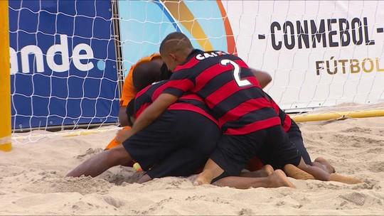 """No dia de """"decisão"""" nos gramados, Vasco busca tri da Libertadores de Futebol de Areia contra o Vitória"""