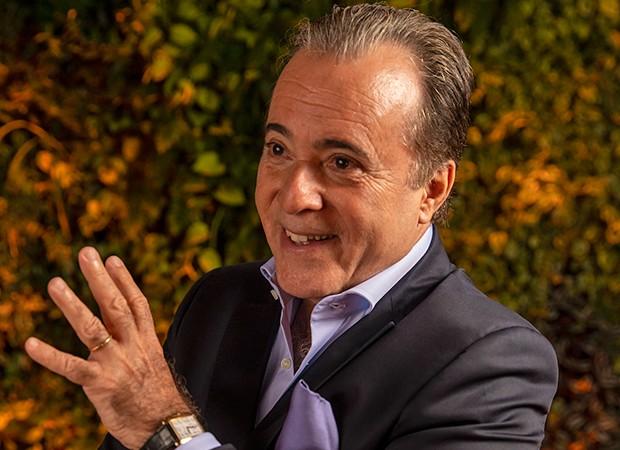 Tony Ramos interpreta o vilão Olavo em O Sétimo Guardião (Foto: Globo / João Miguel)