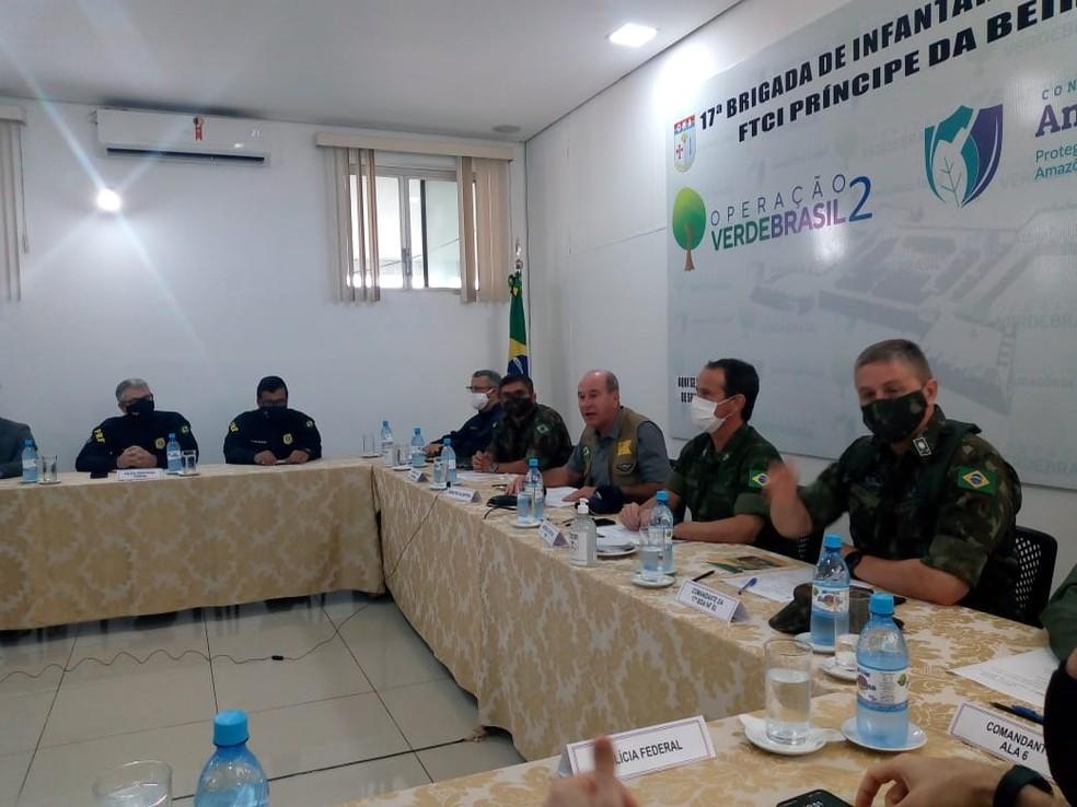 General Fernando Azevedo e Silva esteve em Porto Velho na manhã desta quinta-feira (2).  — Foto: João Antônio Alves/CBN Amazônia