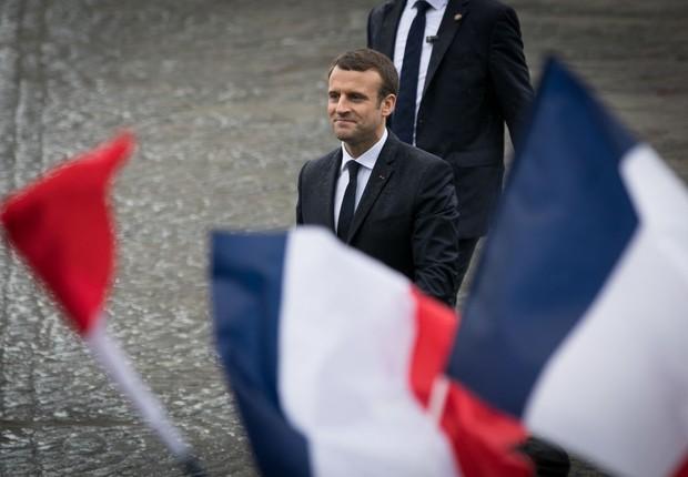 O presidente da França, Emmanuel Macron (Foto: Marc Piasecki/Getty Images)