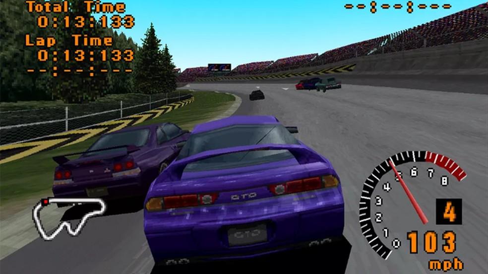 Gran Turismo mostrou o enorme potencial do PlayStation One como um dos melhores jogos de corrida da época — Foto: Reprodução/Felipe Vinha