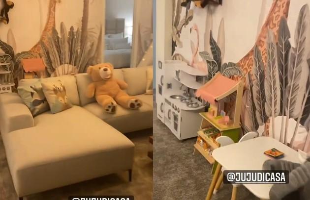 Quarto da casa em que Anitta está hospedada em Orlando (Foto: Reprodução)