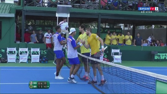 Pontos finais de Melo/Demoliner 2 x 0 Olivares/Hardt pela Copa Davis
