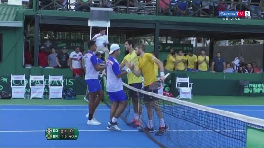 Sorgi vence de virada, Brasil bate a Rep. Dominicana e avança na Copa Davis