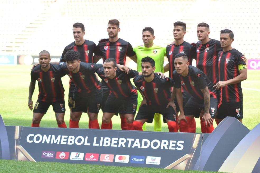 Deportivo Lara não conseguiu chegar ao Brasil — Foto: Twitter/Deportivo Lara
