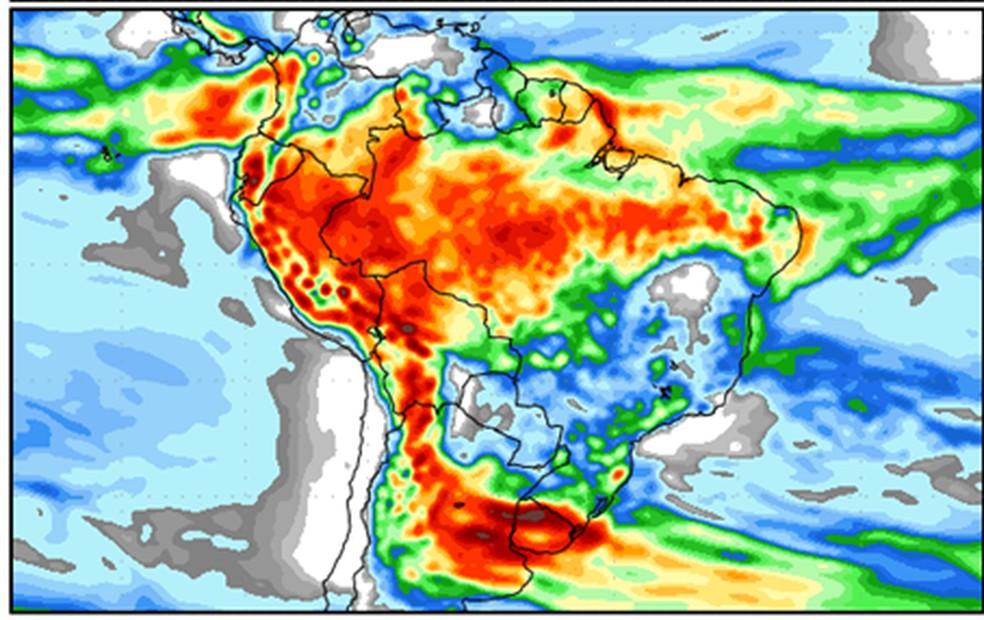 Previsão de chuvas para janeiro de 2019, segundo a Emparn — Foto: Emparn/Divulgação