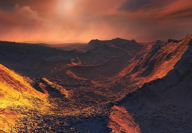 O exoplaneta provavelmente é congelado e muito pouco iluminado – recebe de sua estrela apenas 2% da luz que a Terra recebe do Sol (Foto: ESO/M. Kornmesser)