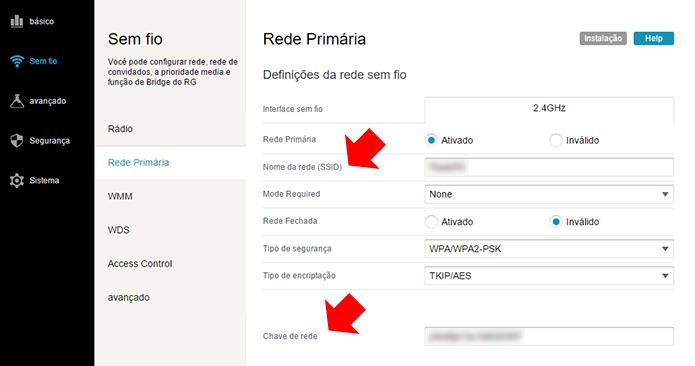 Defina o nome da rede e a senha de acesso do Wi-Fi (Foto: Reprodução/Paulo Alves)