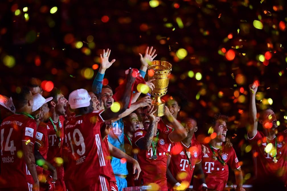 Bayern de Munique foi campeão da Copa da Alemanha de 2019/20 — Foto: Getty Images