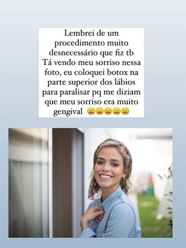 Publicação de Carol Dias (Foto: Reprodução/Instagram)