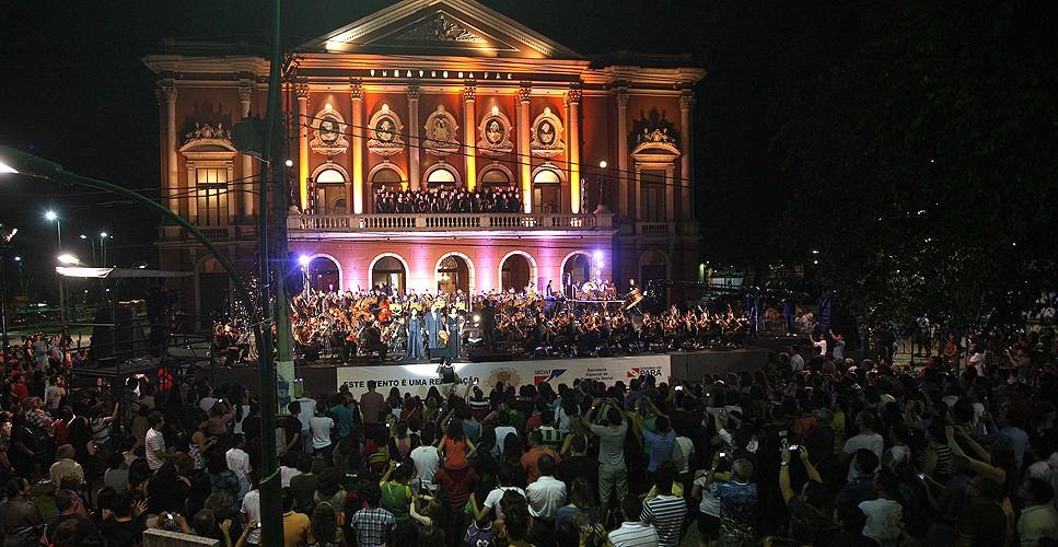 Concerto a céu aberto encerra XVI Festival de Ópera do Theatro da Paz