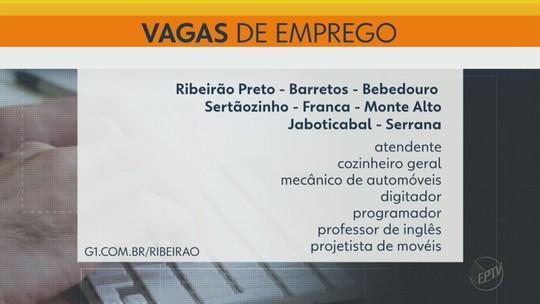 PATs e agência de RH oferecem 113 vagas de emprego na região de Ribeirão Preto, SP