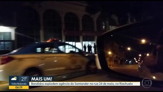 Bandidos armados explodem agência bancária no Riachuelo, zona norte