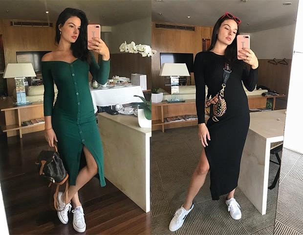 Os vestidos de malha são confortáveis e práticos (Foto: Instagram)