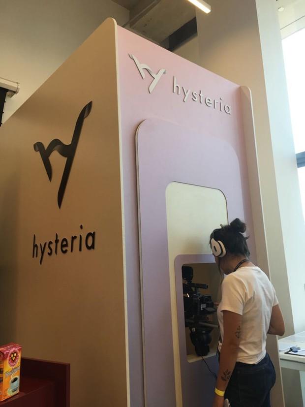 A cabine Hysteria onde serão colhidos os depoimentos (Foto: Hysteria)