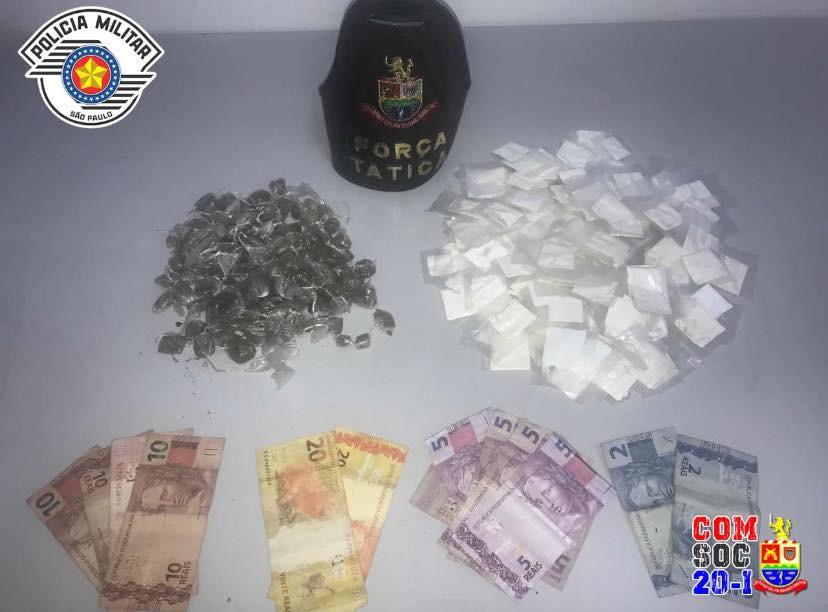 Homem é preso com maconha e cocaína no bairro Getuba em Caraguatatuba