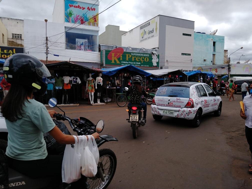 Grande movimentação é registrada no Centro de Picos — Foto: Divulgação /TV Clube