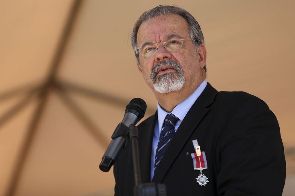 O ministro da Segurança Pública, Raul Jungmann, durante solenidade em Brasília no dia 19 de dezembro — Foto: Marcelo Camargo/Agência Brasil