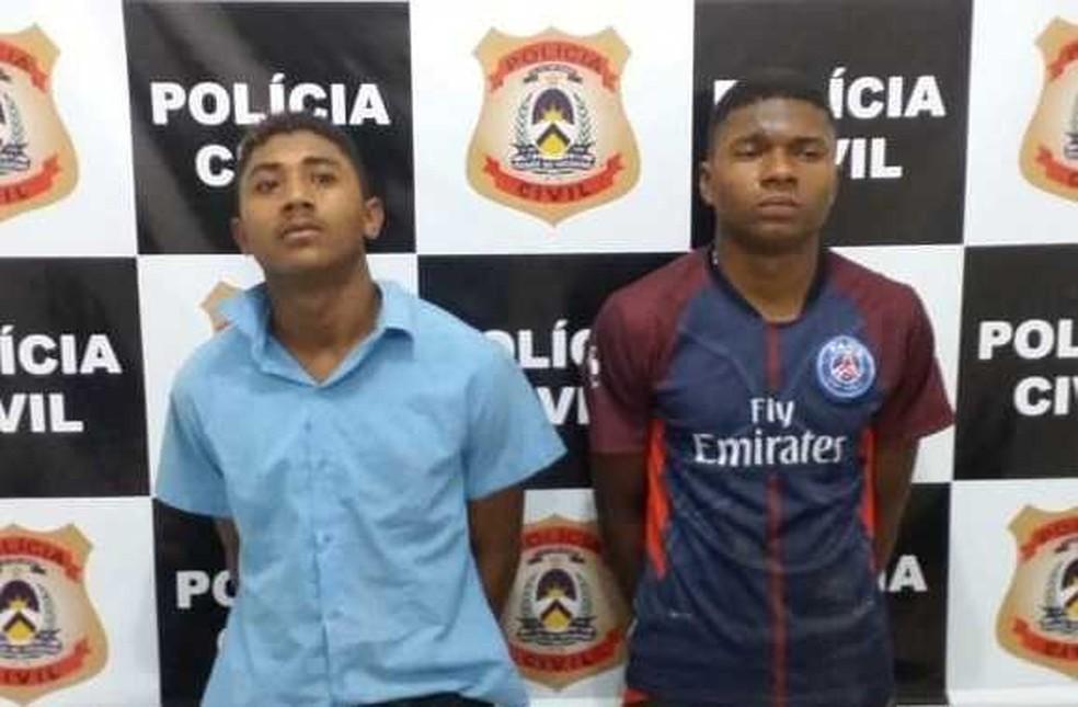 Primos que estavam foragidos foram presos em Lagoa da Confusão — Foto: SSP/Divulgação