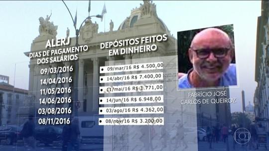 Ex-motorista de Flávio Bolsonaro recebia depósitos em dias de pagamento na Alerj, indica relatório