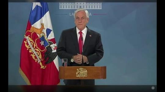 Presidente Piñera promete 'novo contrato social' por mais igualdade