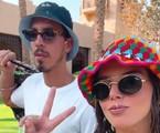 Giovanna Lancellotti e Gabriel David no Egito   Reprodução Instagram
