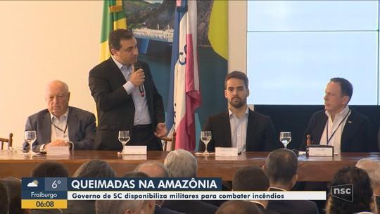 Governo de SC disponibiliza força-tarefa para combater queimadas na Amazônia