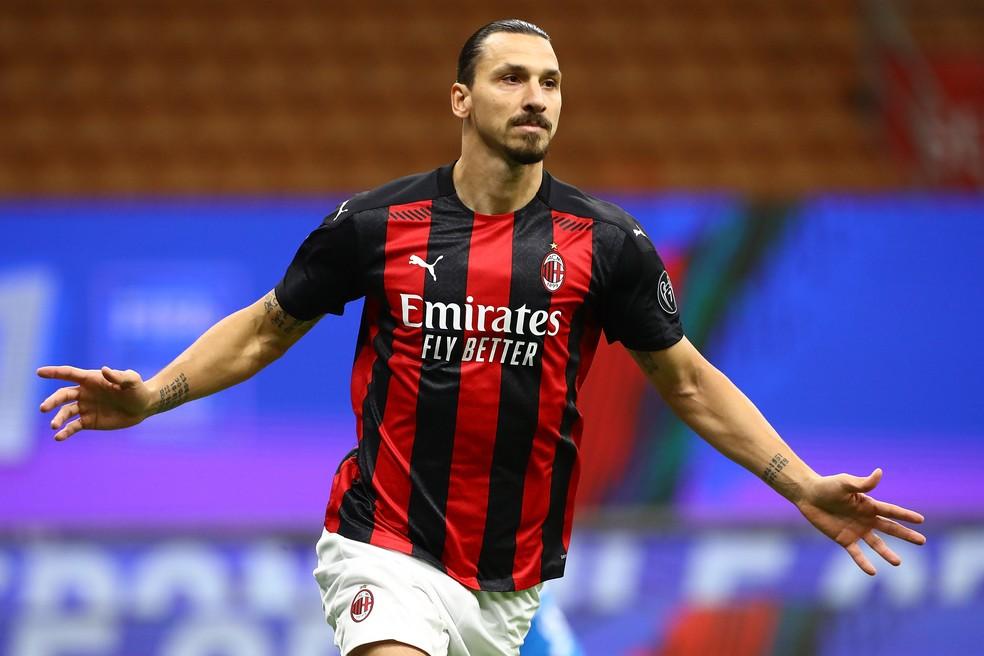 Ibrahimovic tem nove gols em nove jogos pelo Milan na temporada — Foto: Getty Images