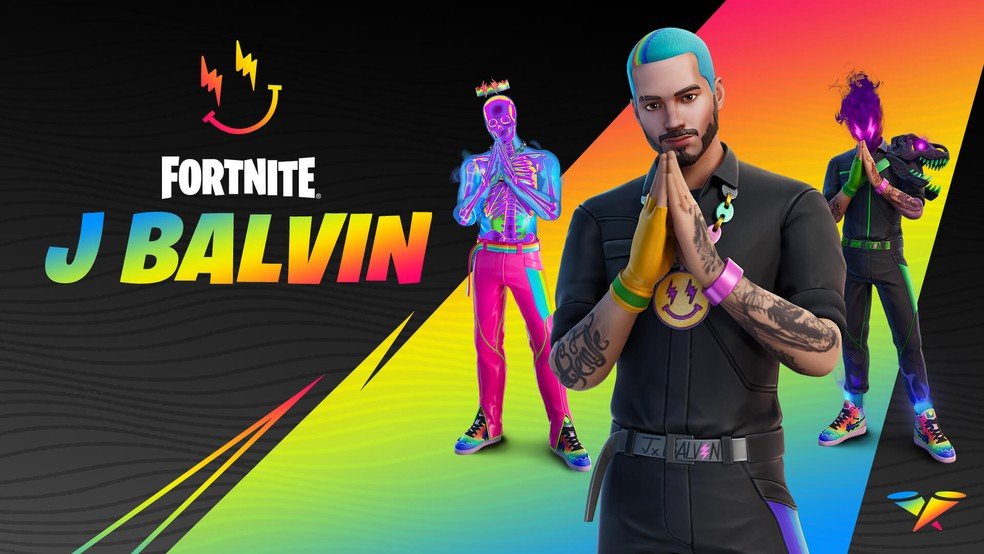 J Balvin se junta à Série Ícones no Fortnite — Foto: Divulgação/Epic Games
