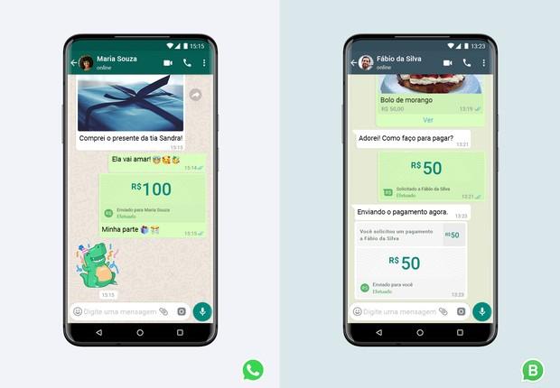 Recurso de pagamentos no WhatsApp chega ao Brasil para pessoas físicas e pequenas empresas (Foto: Divulgação Blog WhatsApp)
