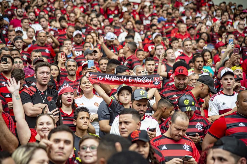 Torcida Flamengo Maracanã — Foto: Alexandre Vidal/Flamengo