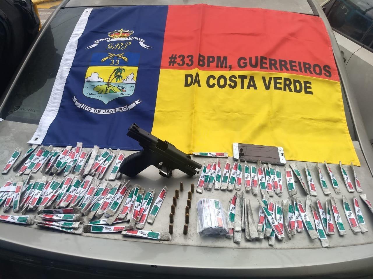 Suspeito fica ferido em ação policial e confessa envolvimento com tráfico no Morro da Glória, em Angra - Notícias - Plantão Diário