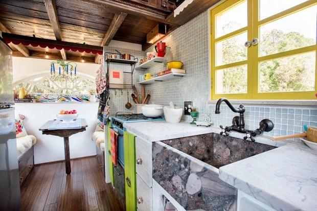 Tiny house tem forno de pizza (Foto: Divulgação / Zillow)