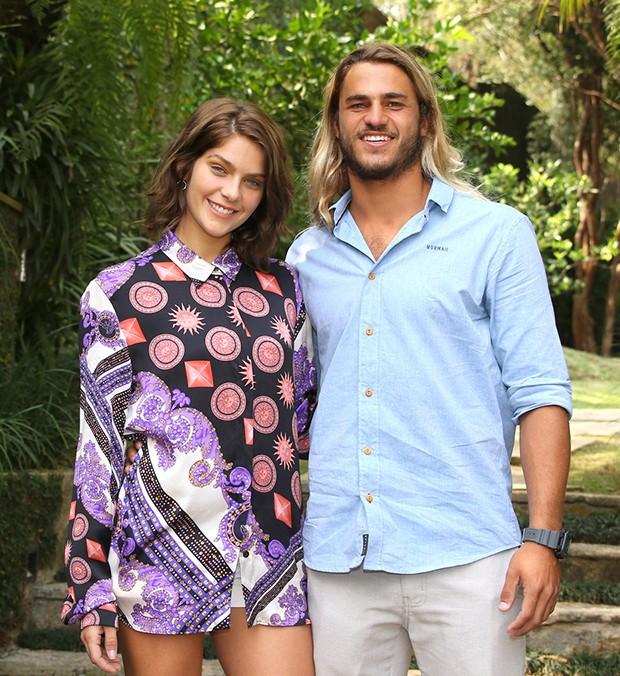Isabella Santoni e Caio Vaz (Foto: Thiago Duran/AgNews)