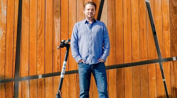 Travis VanderZanden, empreendedor responsável pela mania dos patinetes elétricos na empresa Bird (Foto: Reprodução @BirdGraveyard Instagram) (Foto: Foto: Reprodução @BirdGraveyard Instagram)